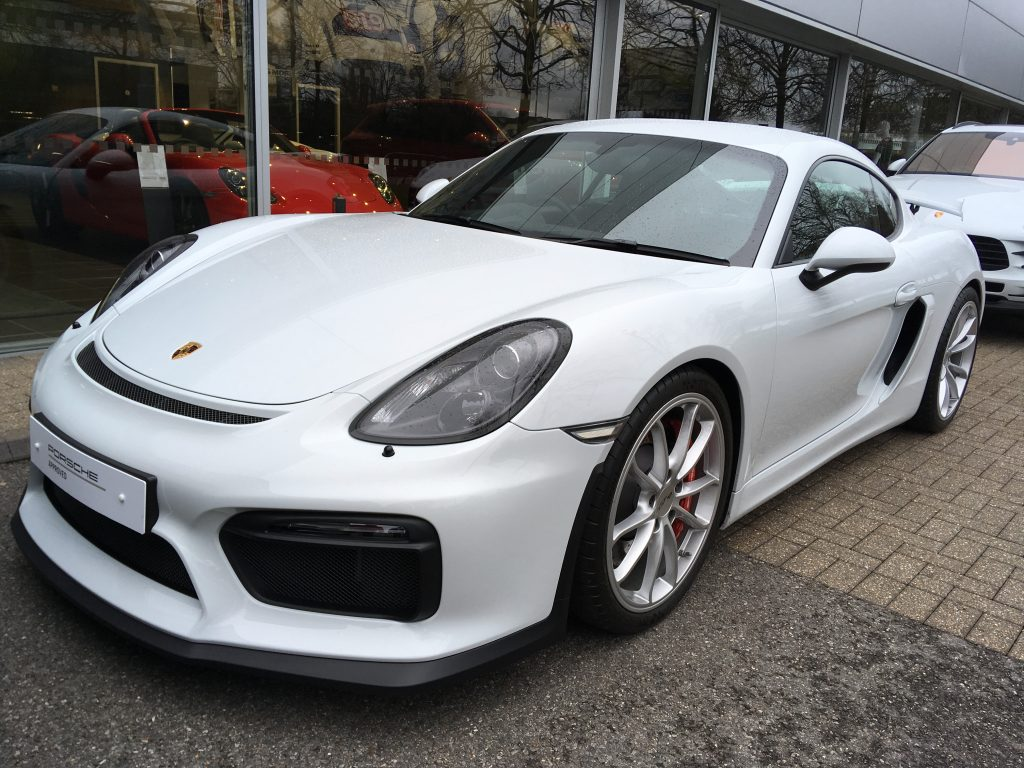 Used Porsche Cayman GT4 was a consideration