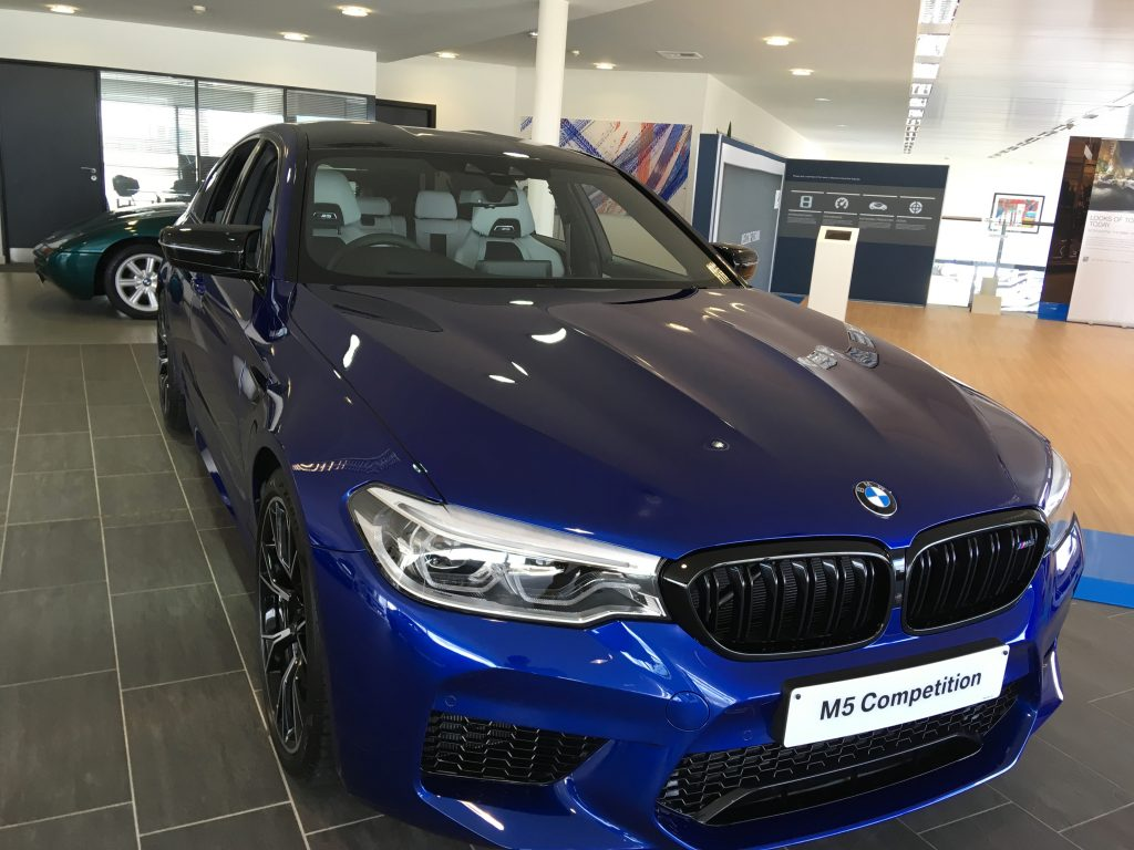 A visit to Specialist Cars Stevenage in March 2019 to view a BMW F90 M5 Competition